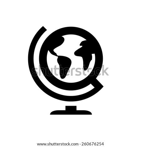 Geography globus icon - stock vector