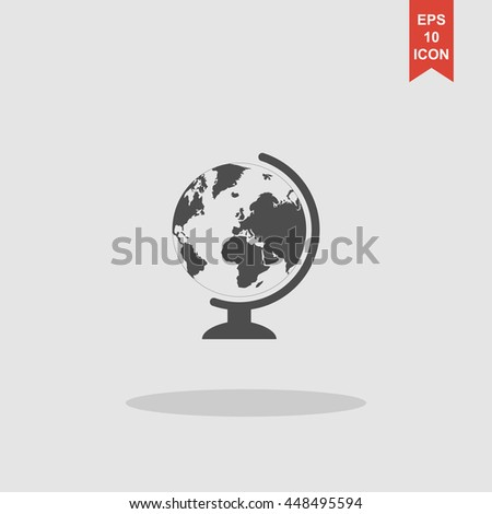 geography school earth globe web icon. vector illustration - stock vector