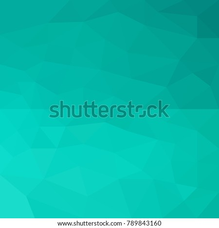 Geometric Abstract Background From Polygons Bright Turquoise Color