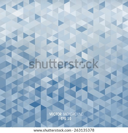Geometric abstract background made of triangles - stock vector