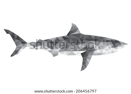 Geometric abstract background shark