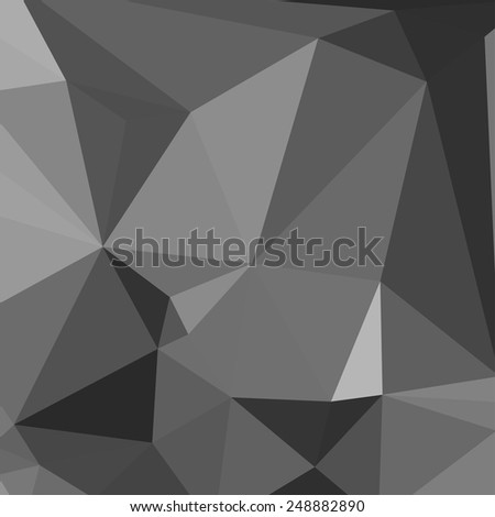Geometric Abstract Background. Triangles. Black and white. Vector - stock vector