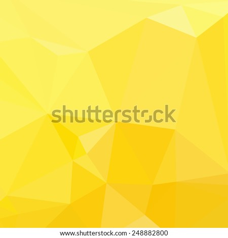 Geometric Abstract Background. Triangles. Bright yellow. Vector - stock vector