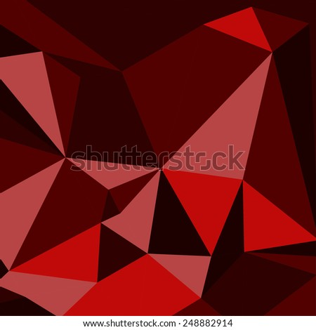 Geometric Abstract Background. Triangles. Red- Burgundy. Vector - stock vector