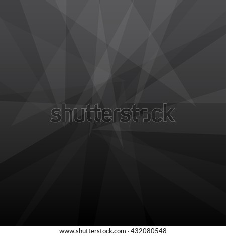 Geometric Abstract Black Background - stock vector