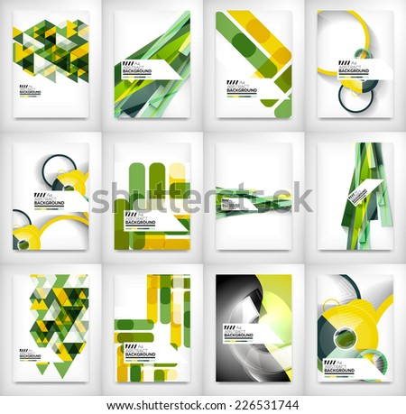 Geometric abstract business template, modern showroom page design - stock vector