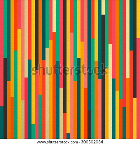 Geometric abstract colorful vintage retro seamless pattern background. Ideal for fabric, wrapping paper and book cover design. EPS10 vector file. - stock vector