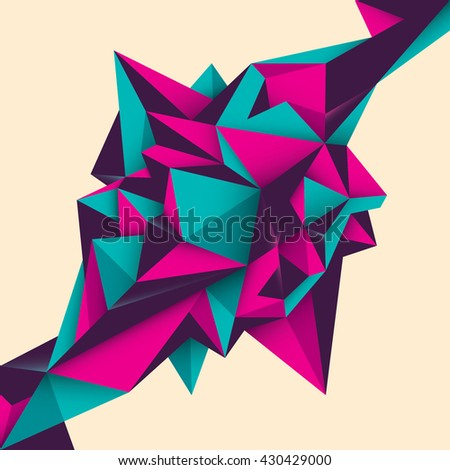 Geometric abstract object. Vector illustration. - stock vector