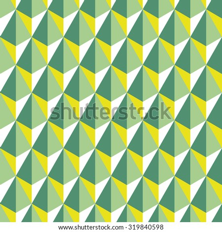 Geometric abstract pattern of hexagons. Seamless background in polygonal style. - stock vector