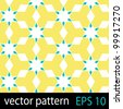 Geometric abstract pattern. Seamless vector background - stock vector