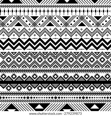 West african patterns black and white