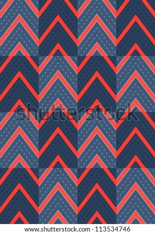 Geometric abstract seamless pattern. Vector background with line and zig zag.