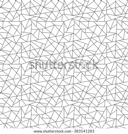 Geometric abstract seamless texture - polygons. A vector.