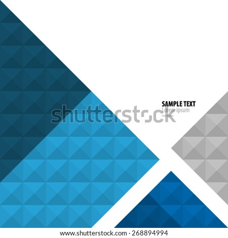 Geometric Abstract Squares and Triangles Background