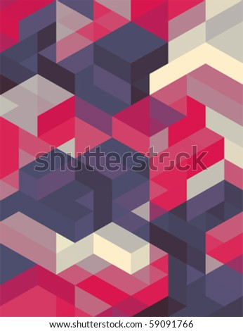 Geometric abstract vector background - stock vector