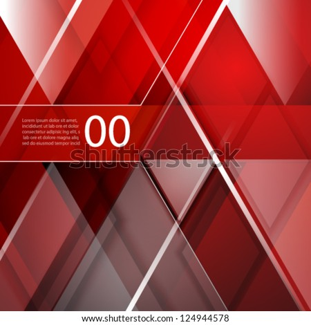 Geometric abstract vector background: straight lines and rhombus - stock vector