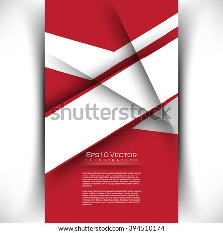geometric abstract white shape elements corporate material design. eps10 vector illustration - stock vector
