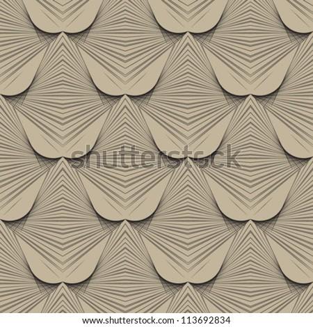 geometric art deco modern futuristic pattern - stock vector