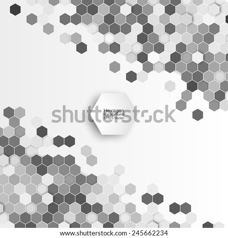Geometric background, abstract hexagonal retro pattern vector - stock vector