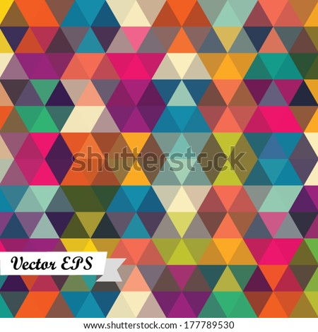 Geometric background, colorful mosaic backdrop stylish vector design for your prints, websites, textile, wallpapers etc. - stock vector