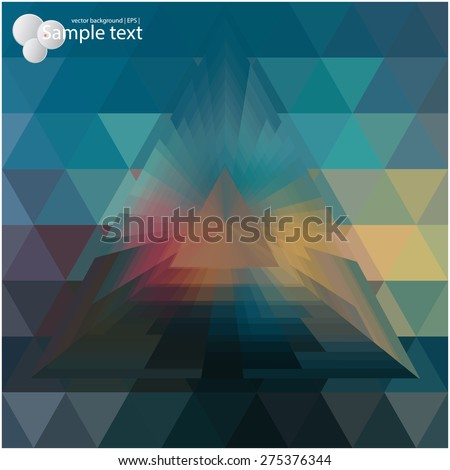 Geometric background for use in your design of brochures, booklets, banners, in web pages  and others. - stock vector