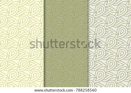 geometric background olive green vertical seamless stock vector