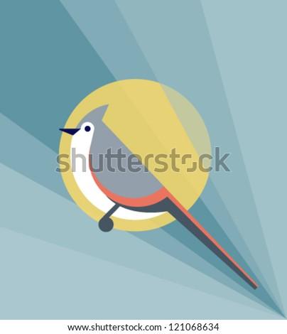 Geometric Bird - stock vector