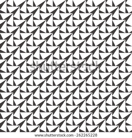 Geometric Black and White Pattern - stock vector