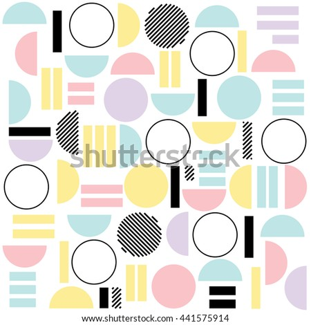 Geometric Boho Style Pattern - stock vector