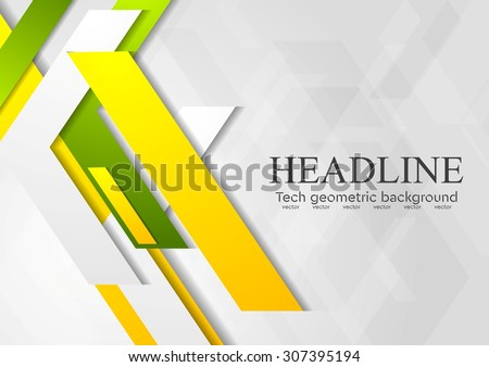 Geometric bright abstract modern design. Vector background - stock vector
