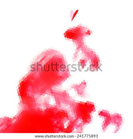 geometric bright red abstract background of the polygons