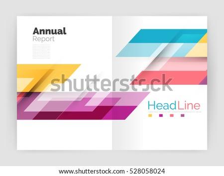 Business Report Vectores im genes y arte vectorial en stock – Business Annual Report Template