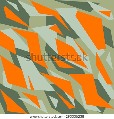 Geometric camouflage pattern background - stock vector