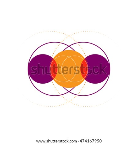 geometric circle abstract background,subconscious graphic vector illustration