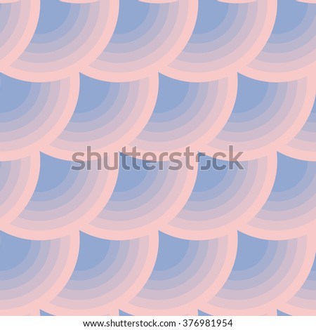 Geometric circle seamless pattern in color of the year 2016. Abstract simple color transition from rose to violet colors. - stock vector