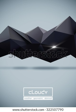 Geometric cloud and Shining - stock vector