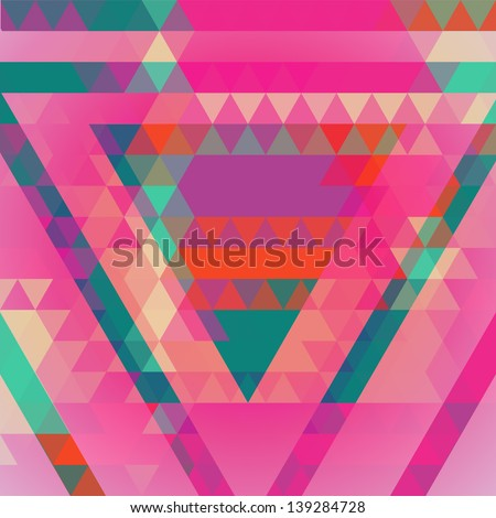 Geometric colorful abstract background. Retro design. Vector illustration EPS 10. - stock vector