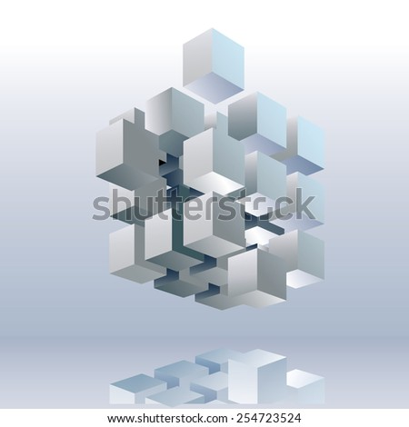 Geometric cube, abstract texture design