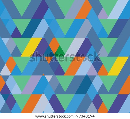 geometric decorative seamless background. - stock vector