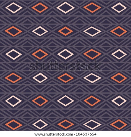 Geometric decorative seamless background. Abstract ethnic pattern. - stock vector