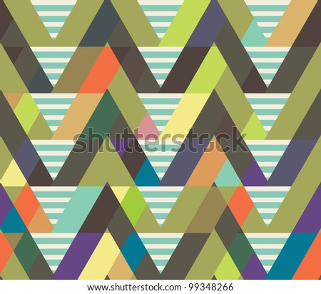 geometric decorative seamless background. striped pattern.