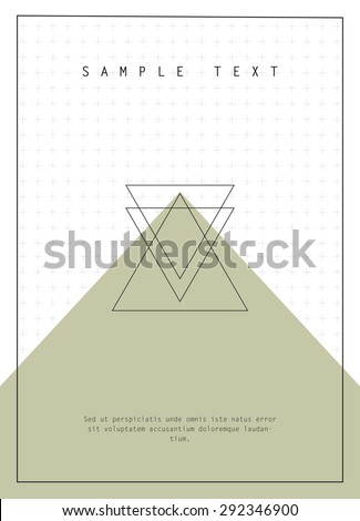 Geometric design for poster, brochure or business card - stock vector