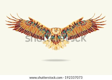 geometric eagle abstract colour eps 10 vector