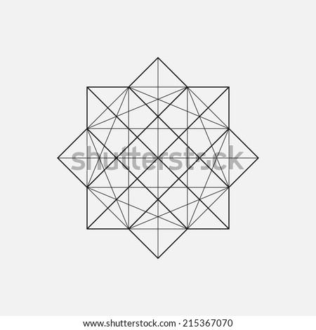 Geometric element, star shape, vector - stock vector