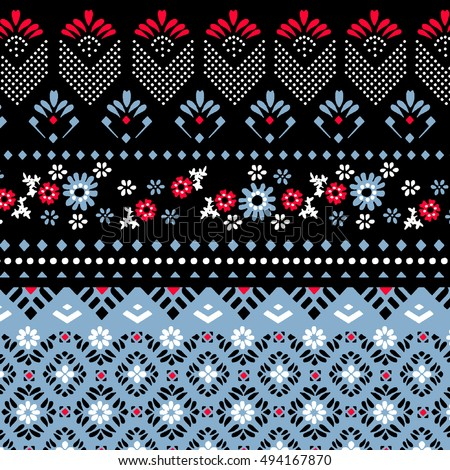 geometric ethnic pattern design for background, wallpaper or for women's clothing.