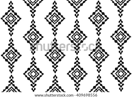 Geometric Ethnic Pattern Embroidery Design Background Stock Vector