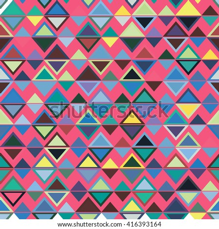 Geometric ethnic pattern. Vector illustration