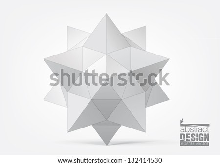 geometric figure in the form of star for graphic design - stock vector