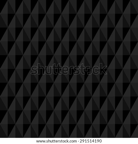 Geometric fine abstract vector background. Seamless modern dark pattern