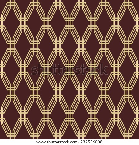 Geometric fine abstract vector pattern. Seamless modern texture for wallpapers and background with golden elements - stock vector